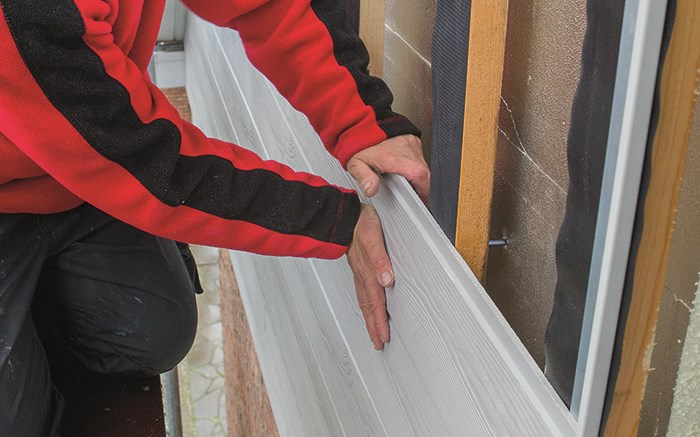 Care-free renovation install fiber-cement cladding on your facade yourself