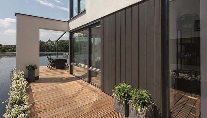 The latest facade trend: vertical Cedral strips