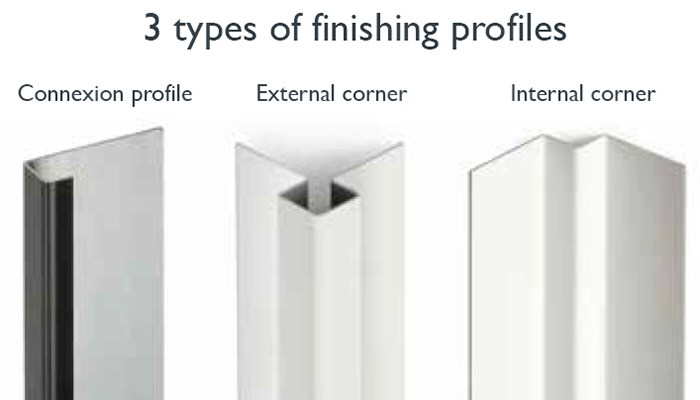Finishing profiles for facade slates
