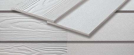 Lames de bardage en fibre-ciment pour revêtement de façade avec installation de recouvrement